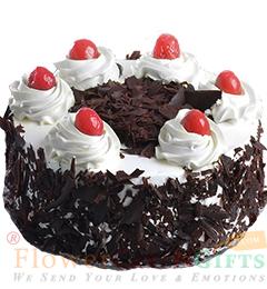 1Kg Fresh Black Forest Eggless Cake