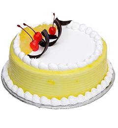 Half Kg Pineapple Pastry Cake