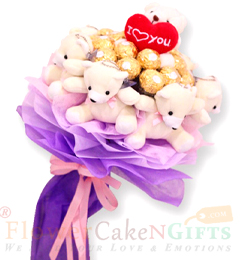 teddy n ferrero rocher Chocolate bouquet