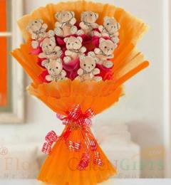 Designer Teddy bouquet