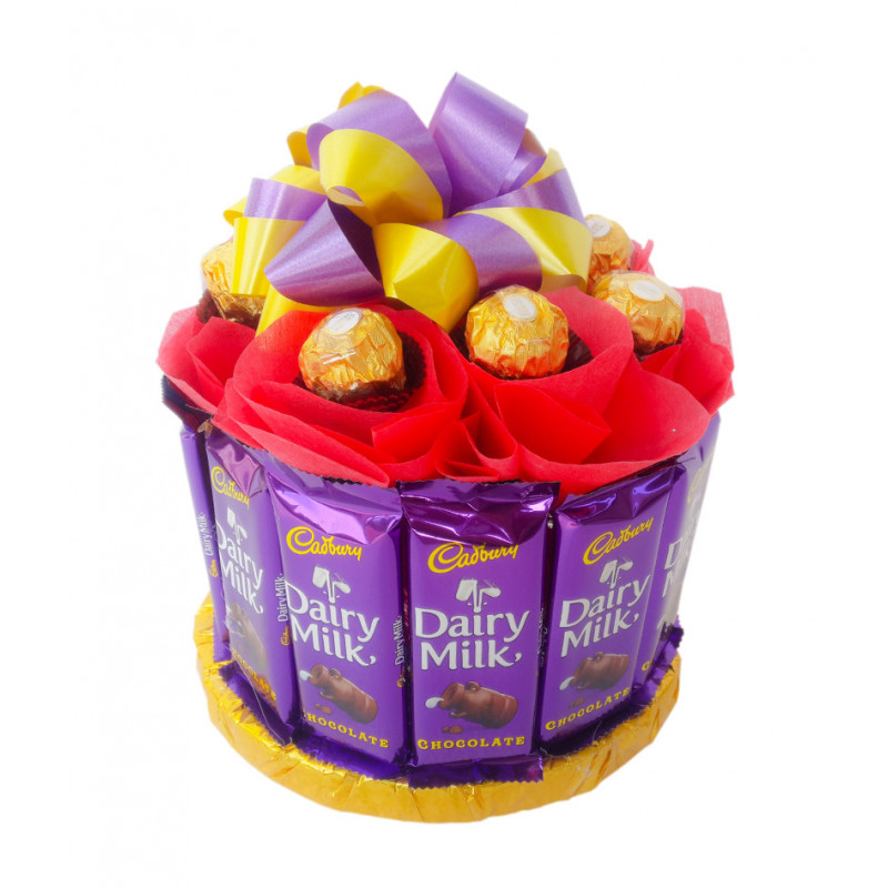 Dairy Milk With Ferrero Rocher Chocolate  Bouquet