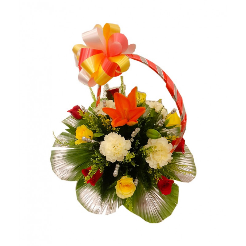 Buy Send Order Mixed Flower n Lilies Bouquets Price Online Delivery ...