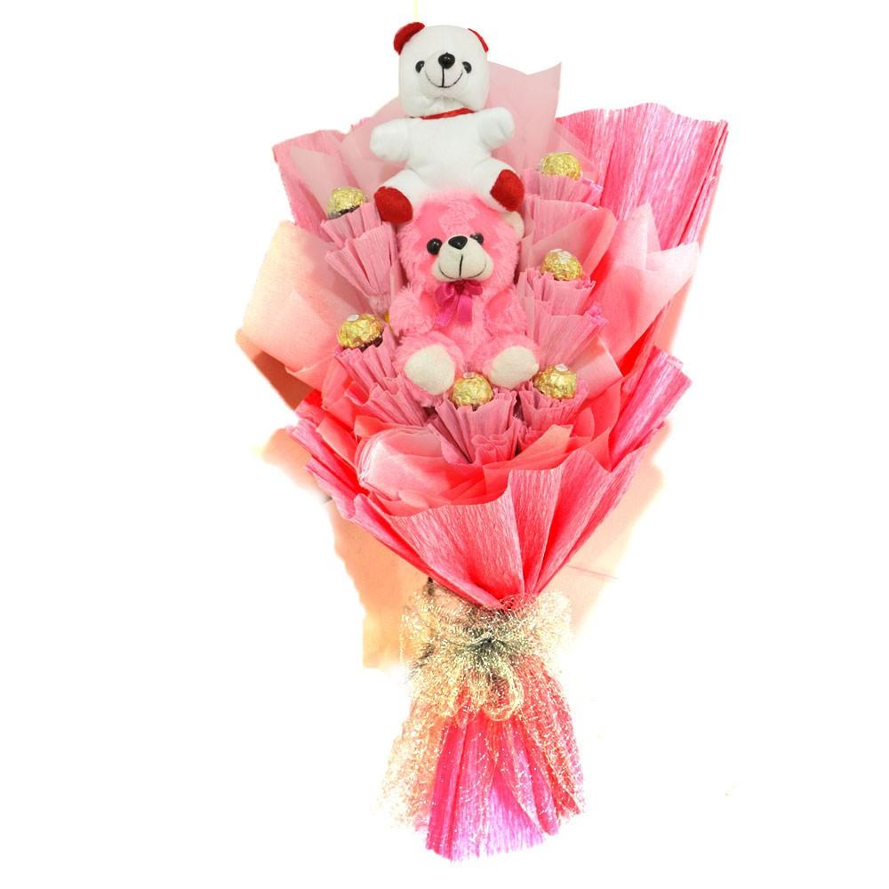 Designer Teddy Ferrero Rocher Chocolate bouquet