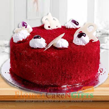 half kg eggless red velvet cake