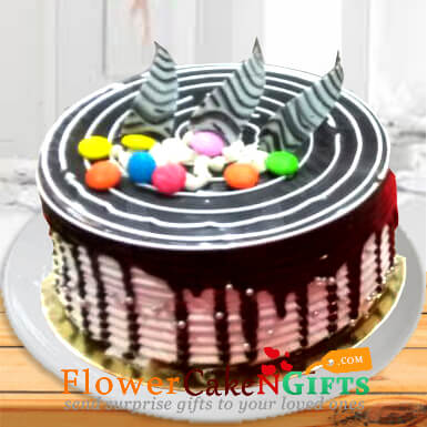 half kg choco vanilla cake
