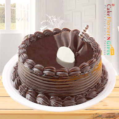half kg chocolate truffles cake