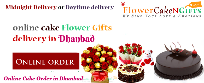 Midnight Cake Flower Delivery Shop In Dhanbad