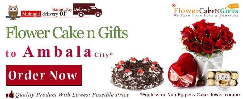 Midnight Anniversary Chocolates Teddy Birthday Eggless Cake Flower Bouquet Delivery To Ambala Sameday