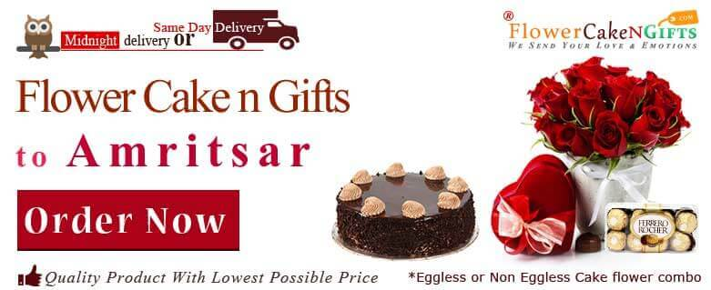 Midnight Anniversary Chocolates Teddy Birthday Eggless Cake Flower Bouquet Delivery To Amritsar Sameday