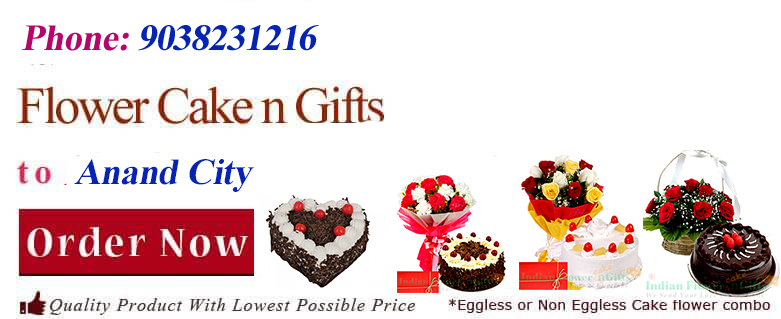 Midnight Anniversary chocolates Teddy Birthday Eggless Cake flower Bouquet delivery to Anand-Gujarat Sameday