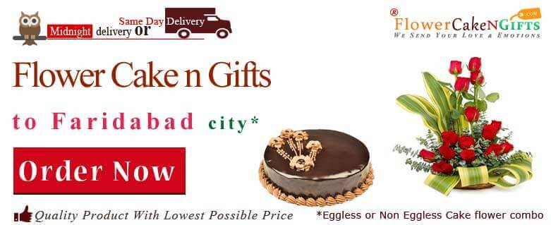 Midnight Anniversary Chocolates Teddy Birthday Eggless Cake Flower Bouquet Delivery To Faridabad Sameday Flowercakengifts Shop