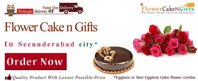 Midnight Anniversary Chocolates Teddy Birthday Eggless Cake Flower Bouquet Delivery To Secunderabad Sameday