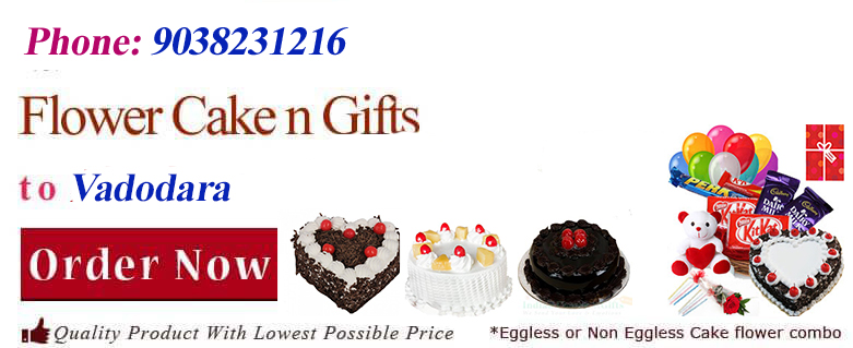 Midnight Anniversary Chocolates Teddy Birthday Eggless Cake Flower Bouquet Delivery To Vadodara Baroda Sameday