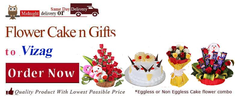 Midnight Anniversary Chocolates Teddy Birthday Eggless Cake Flower Bouquet Delivery To Vizag Sameday