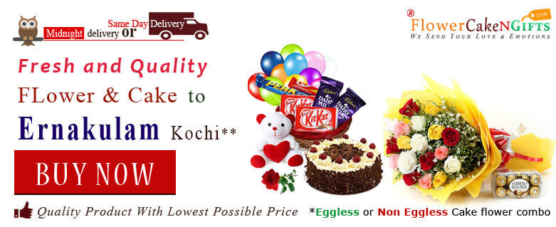 Midnight Anniversary Chocolates Teddy Birthday Eggless Cake Flower Bouquet Delivery To Ernakulam Kerala Sameday