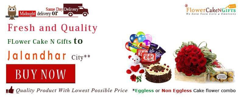 Midnight Anniversary Chocolates Teddy Birthday Eggless Cake Flower Bouquet Delivery To Jalandhar Sameday