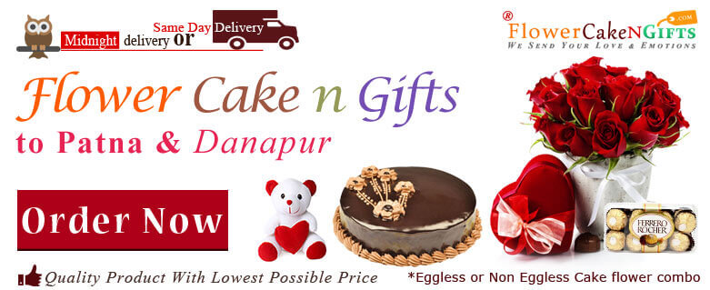 Midnight Anniversary Chocolates Teddy Birthday Eggless Cake Flower Bouquet Delivery To Patna Danapur Sameday