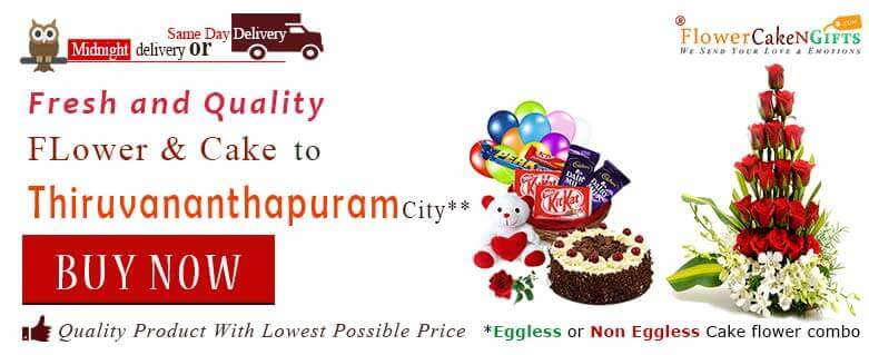 Midnight Anniversary Chocolates Teddy Birthday Eggless Cake Flower Bouquet Delivery To Trivandrum Thiruvananthapuram Sameday